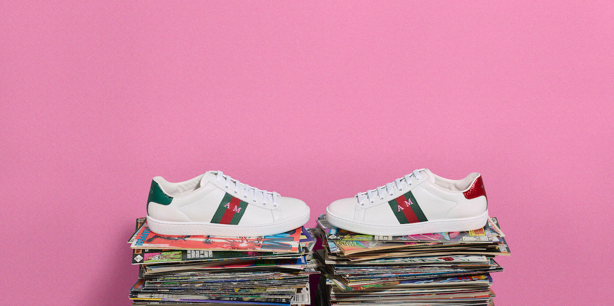 19ac2a65f2 Los tenis insignia de Gucci ahora con tus siglas, ready to go!   Meow Mag,  Onomatopeia of Fashion Culture