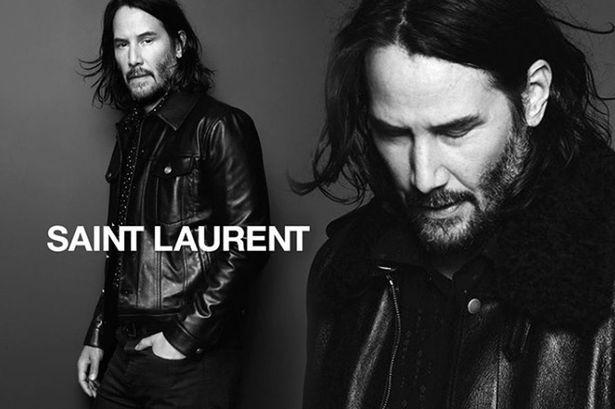 Keanu Reeves en la campaña de Saint Laurent Otoño 2019